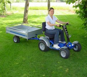 tracteur-autoporte-electrique-Micro-remorque-plateau-ridelle-leve